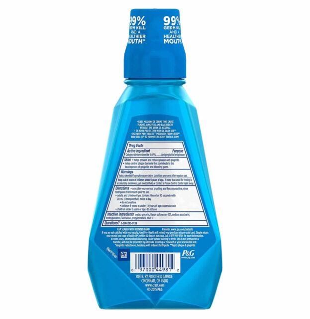 Crest Pro Health Multi Protection Clean Mint Mouthwash, 16.9 2